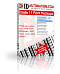 Code 11 Barcode Font Advantage Package