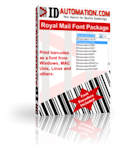 IDAutomation RM4SCC Royal Mail Barcode Font Advantage Package